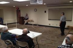 Demonstrating a jump